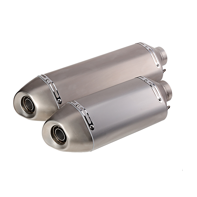 57MM Motorcycle Exhaust Moto Muffler Pipe With Removable DB Killer With 51mm Adapter Dirt Street Bike Scooter ATV Escape length 360mm id 51mm carbon fiber motorcycle exhaust muffler pipe with silencer case for cb600 mt07 yzf duke fz6 atv dirt bike