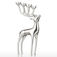 6 Stands Elk Candle Holders Europe Style Metal Candlestick Home Wedding Decoration Candle Holder Candlelabra
