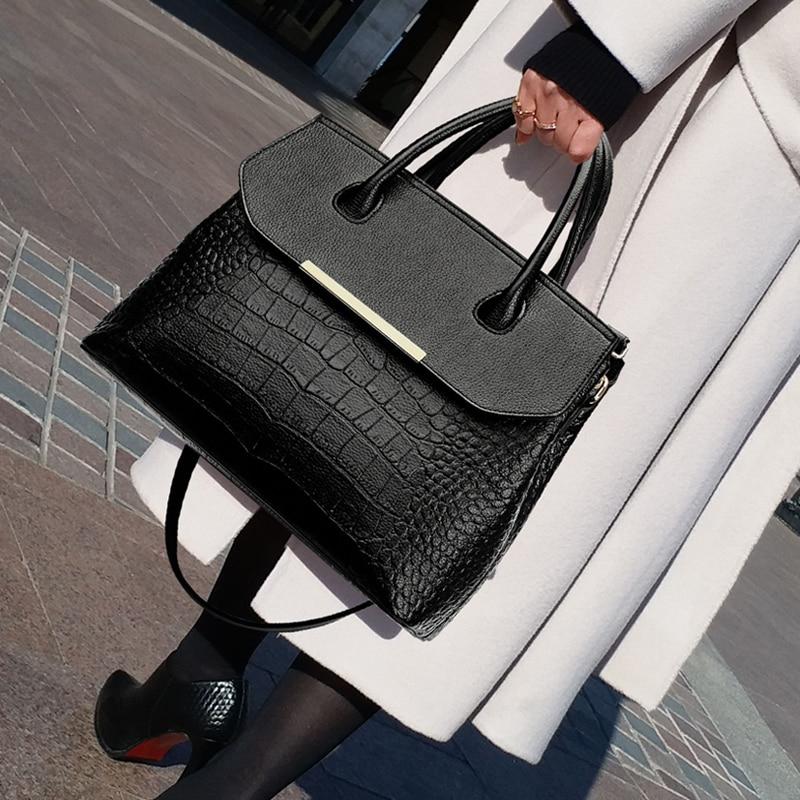 Luxury Handbags Women Bags Designer Bags For Women Fashion Crocodile Leather Bags Handbag Women Famous Brand