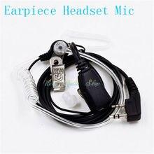 walkie talkie headphone Headset 2 Pin Throat Mic Air Tube Ear Earpiece Mic for two way radio baofeng UV-5R BF-888s UV-82 UV-5RE