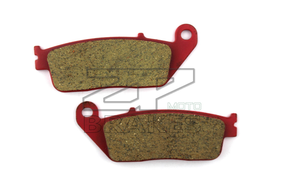 Motorcycle Disc Brake Pad Fit HONDA VT 600 Shadow Custom 1994-1999 NV 400 Steed 1995-1997 Front Red Carbon Ceramic Free shipping free shipping motorcycle radiator hose tube water pipe for honda steed 400 steed 600 water tank pipe