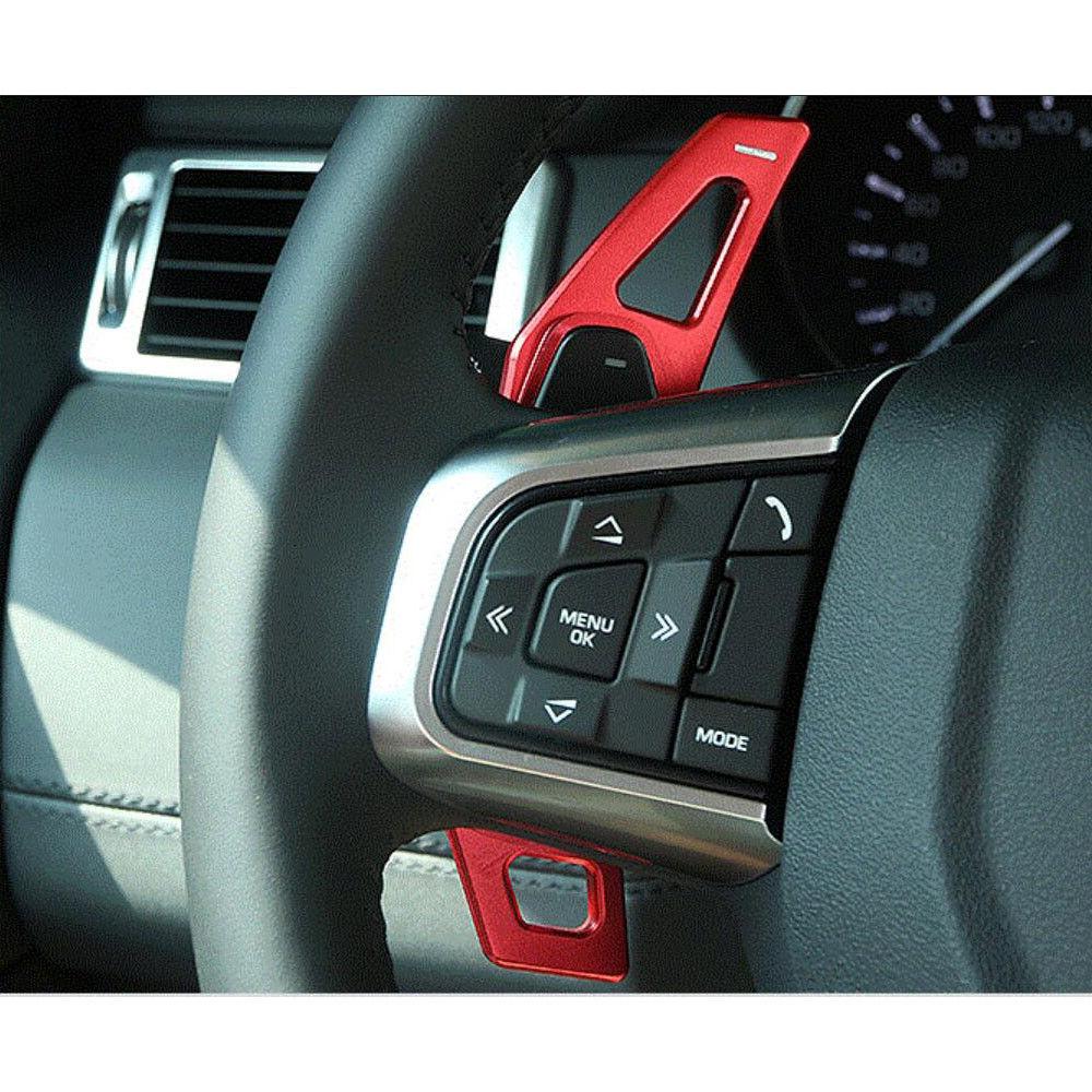 2pcs Aluminium Alloy Car Steering Wheel Paddle Shifter For Land Rover Range Rover Evoque/Sport LR4 Discovery aluminum alloy black steering wheel paddle shift extension for land rover range rover sport 2011 15