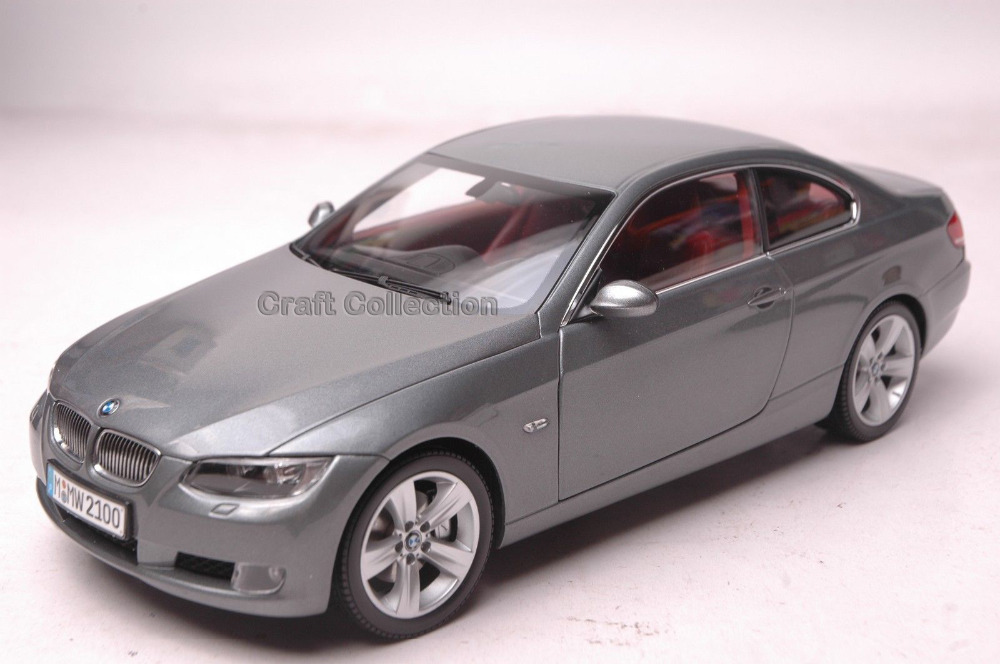 * Gray 1/18 Car Model for 330 Coupe Sport Car Kid Toys 3 Series Modell Auto Hot Selling Alloy Brinquedos 1 18 otto renault espace ph 1 2000 1 car model reynolds
