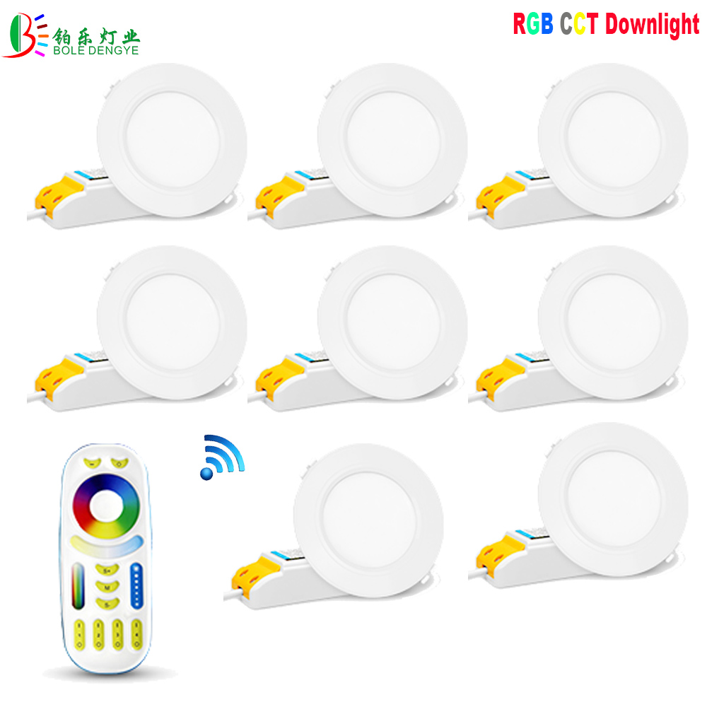 Back To Search Resultslights & Lighting Milight Fut068 6w Rgb+cct Led Downlight Ac100-240v Led Panel Light Dimmable Compatible 2.4g Hz Rf Fut092 Remote App Control A Great Variety Of Models Downlights