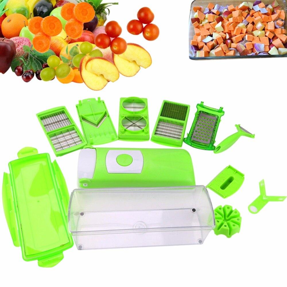 12 in 1 Multifunction Vegetable Grater Cutter Set Fruit Slicer Peeler Food Container Shredders Kitchen Cooking Tools