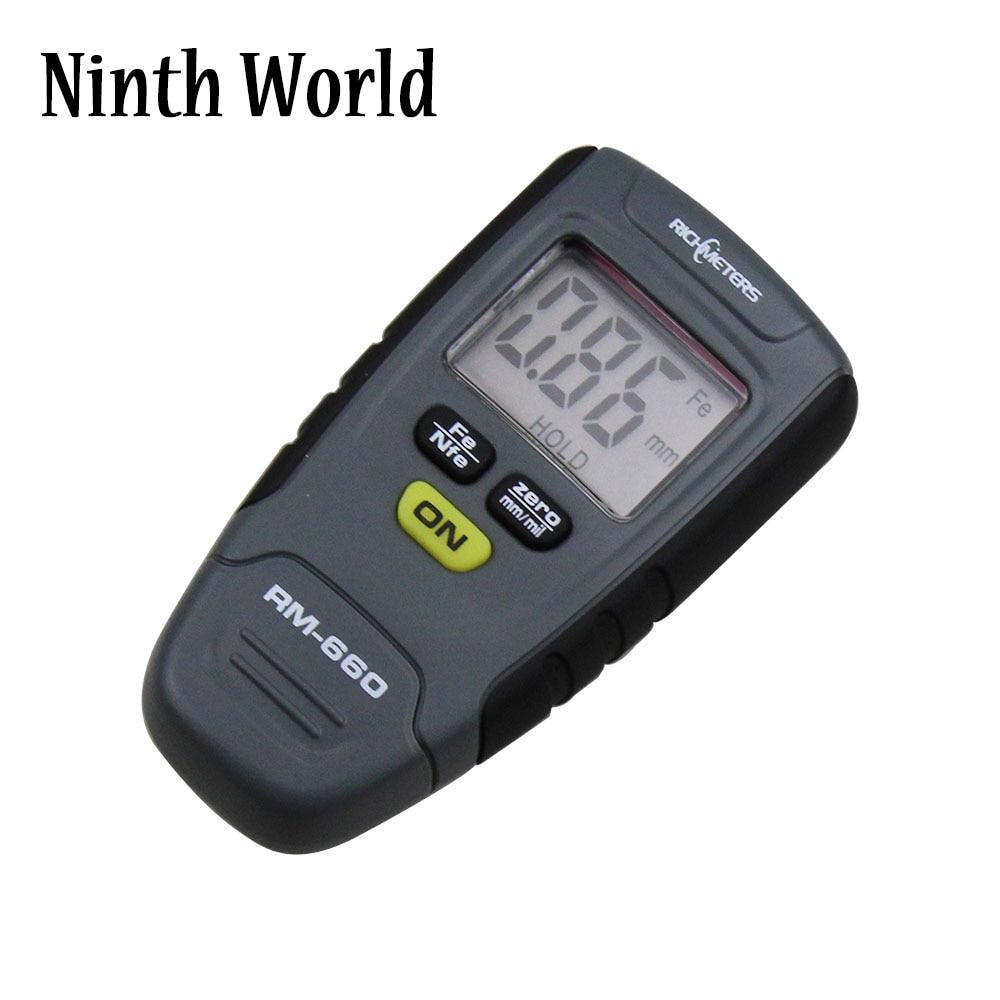 цена на RM660 Paint Coating Thickness Gauge Digital Meter Instrument Tester 0-1.25mm Iron Aluminum Base Metal Car Measure
