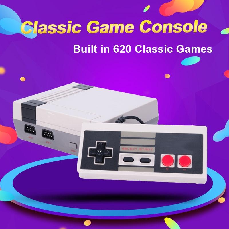 Mini TV Video Game Console Family Retro Game Computer Dual Gamepads AV Port Built-in 620 Classic Games Children Gift