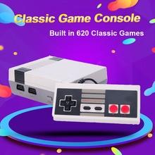 Mini console de jogos de vídeo da tevê, console de 8 bits do nes, construído em 620 jogos retro, saída da tevê do apoio, presente das crianças