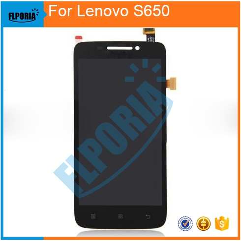 100% Guarantee Black / white Replacement Full Complete LCD Display Touch Digitizer Screen Assembly For Lenovo S650 Free Shipping