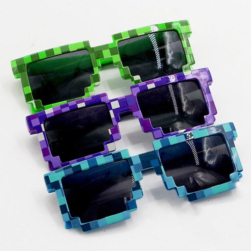 3 цвета Minecraft Солнцезащитные очки для женщин дети Косплэй фигурку игры Игрушечные лошадки квадратный Очки подарки для детей Brinquedos # E