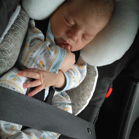 Подушка для детской коляски, аксессуары для автомобильного сиденья, термальный матрас для коляски, коврик, плечевой ремень для младенцев, чехол для ремня, подушка для защиты шеи 2