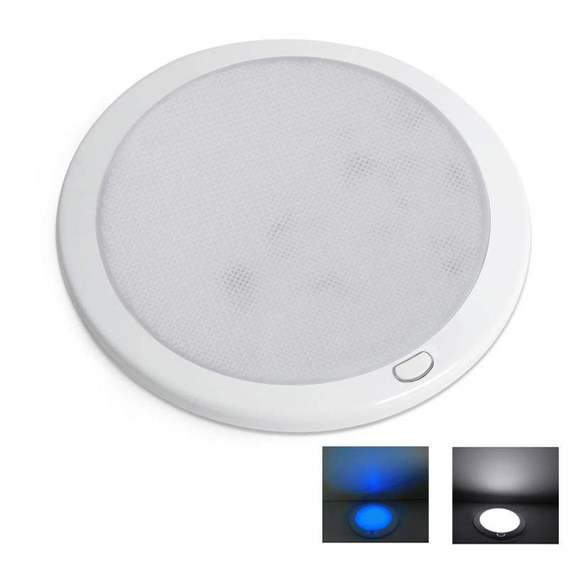 "12VDC 8.5"" Dimmable LED Cabin Dome Light Blue Mood"