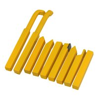 9 Pieces 12x12mm Yellow Iron YT15 Alloy Square Shank Lathe Turnning Tool