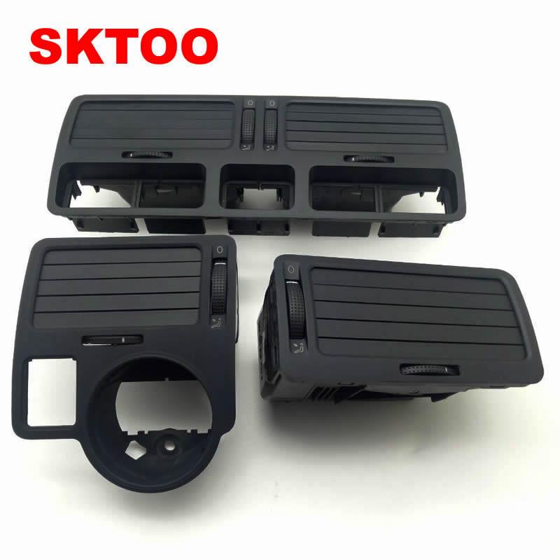 SKTOO 3PCS/Set Black For VW bora golf 4 instrument air outlet central air-conditioning outlet,a set