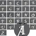 Hot 1PC SILVER TONE INITIAL LETTER CRYSTAL LEATHER PENDANT NECKLACE 26letters For DIY imitation Necklace Drop Free
