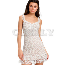 CUERLY Ruffle Lace Up Flower Print Dress Women Summer Spaghetti Strap Mini Sexy V-neck Tie Party Dresses Vestidos