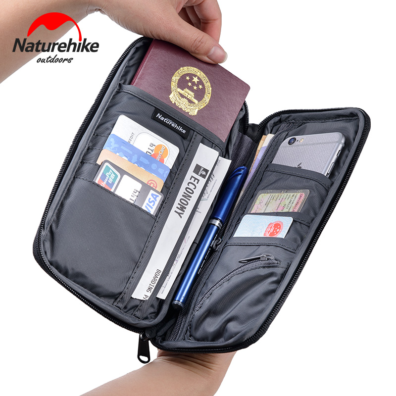 Naturehike Men And Women Multi Function Outdoor Bag For Cash, Passport, Card Multi Using Travel Wallet Nature Hike