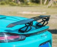 Spoiler de fibra de carbono para porsche 911 718 boxster cayman 2016-2020 asa spoilers modificação do carro de alta qualidade acessórios