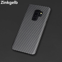 For Samsung S9 Plus Cover Case Luxury Slim Hard Real Matte Carbon Fiber Protective Back Cover Phone Case for Samsung S9 Case