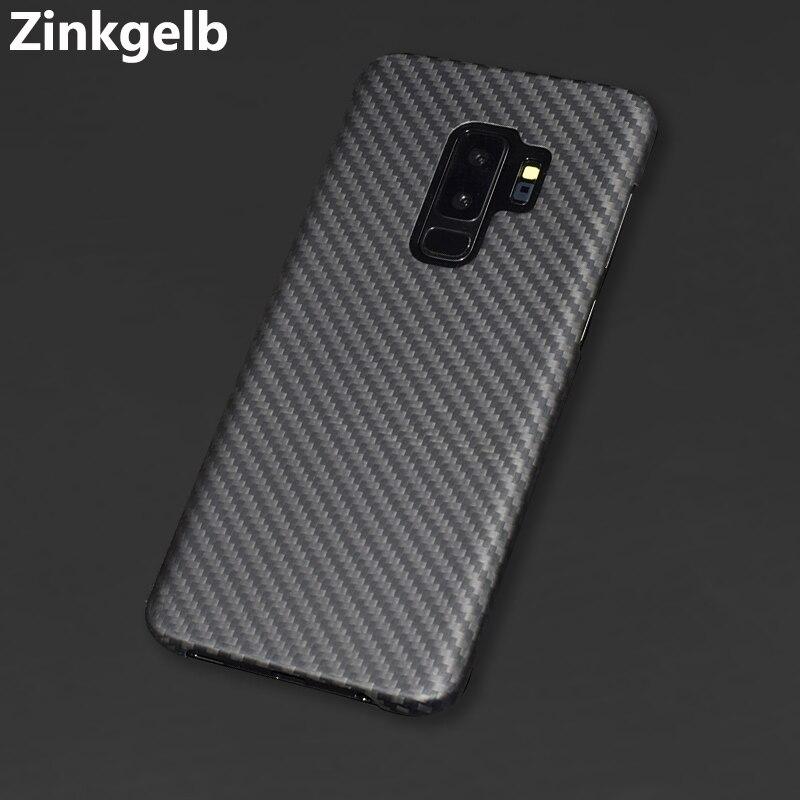 Pour Samsung S9 Plus housse de protection de luxe mince dur réel mat en Fiber de carbone couverture arrière étui pour téléphone étui pour Samsung S9