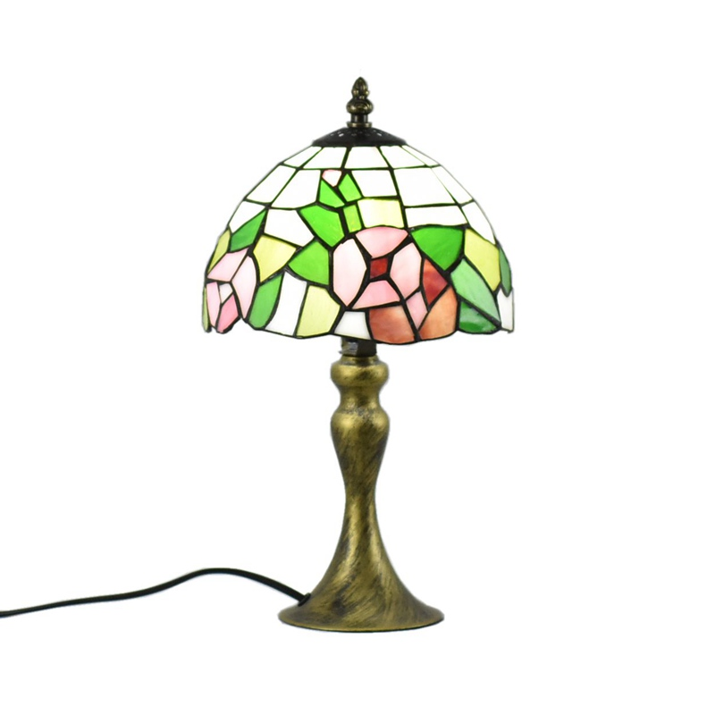 Atreus Rare Old Antique Vintage Brass Bronze Dale Table Tiffany Lamps 220V fit for famliy bed reading dinner room free shipping