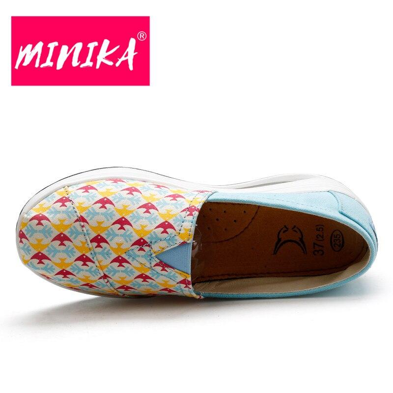 MINIKA 2017 Sibuk Wanita Kasual Sepatu Desain Superstar Slip pada - Sepatu Wanita - Foto 3