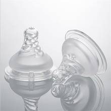 Wide-caliber threaded nipples for safe feeding of newborn infants comfortable and soft silicone