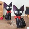 Jiji schwarz katze handwerk  kreative cartoon tiere  kinder geburtstag geschenke-in Figuren & Miniaturen aus Heim und Garten bei