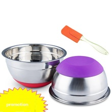 mixing bowl Stainless steel basin Round egg Basin With cover Kitchen home