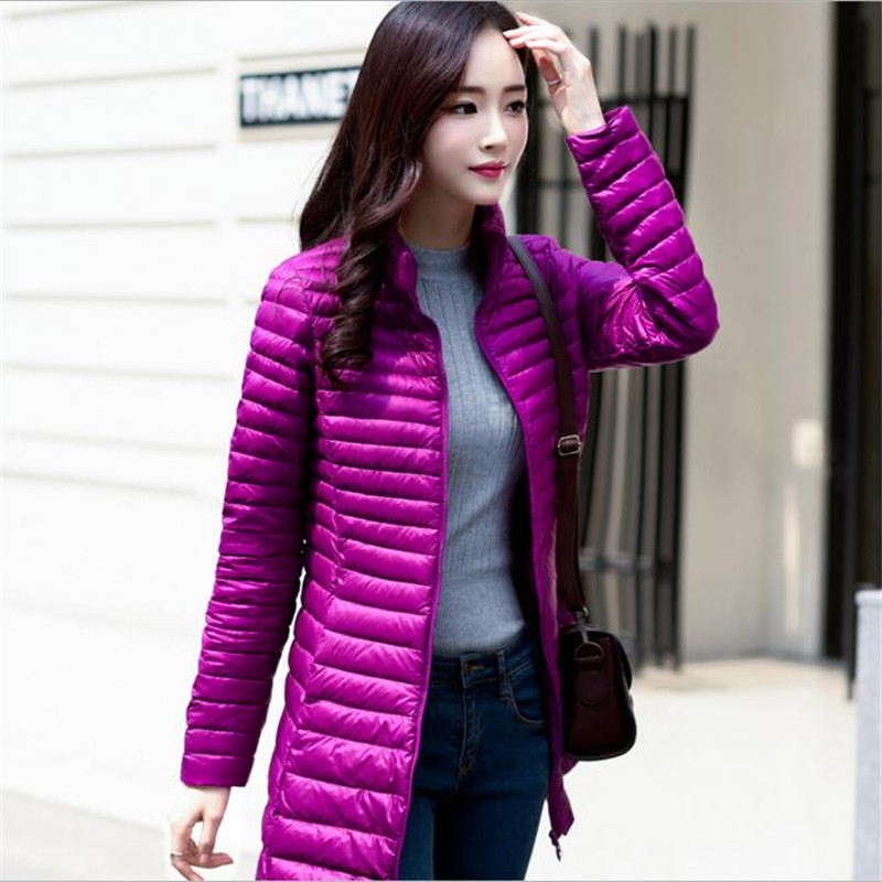 ФОТО Winter New Brand Women's Korean Style Down Jacket Slim Long Jacket Winter  Woman Veste Fashion Warm Necessories Clothing A2265