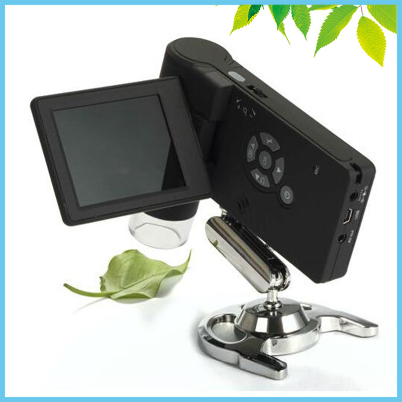 5MP CMOS Digital Microscope USB 3 LCD Portable Video Electronic Magnifier TV Microscope w/ 8 LED Stand Mount