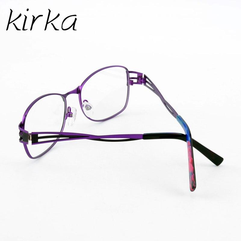 58b45b39d84 Kirka Fashion Purple Metal Frame Eyeglasses For Women Female Vintage  Glasses Clear Lens Optical Frames oculos de grau -in Eyewear Frames from  Women s ...