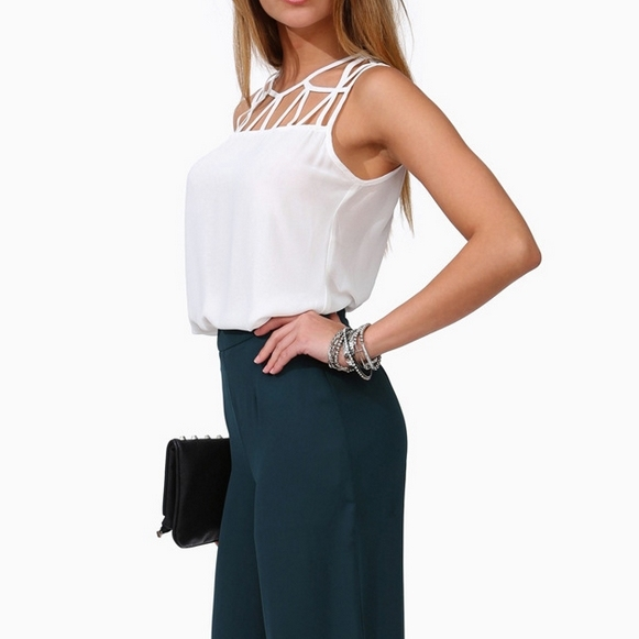 Сексуальная выдалбливают frontless & спинки тонкий шифон танки топ для женщин сплошной цвет основные футболки crop top brand ST2125 бретели