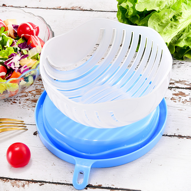 Upgrade 1 minute Salad Cutter Bowl Vegetable Fruits Slicer Chopper Washer And Cutter Quick Salad Maker Kitchen Gadget home tools 1