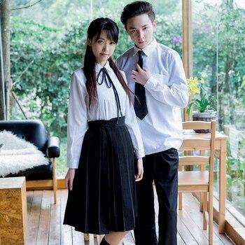 4264f9525 Nueva llegada japonés de manga corta Sailor Suits escuela chica uniforme  Colegio secundaria estudiantes uniformes Jk Cosplay femenino
