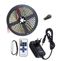 12V 5M 600 Leds SMD 2835 LED Strip Light Diode Tape+Mi 11key RF remote control+2A Power Adapter Supply LED Ribbon Flexible Light