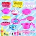 Мини Моделирование посуда куклы Кухня кастрюли и сковородки блюда очки столовые приборы для куклы барби, девушки игрушки играть дома