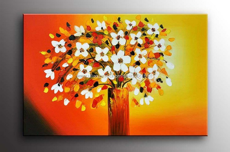 Sales Huge Modern Abstract Art Impressionism Floral Oil Painting Gallery Paintings Dining Room Wall Decor Land