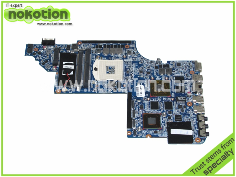 NOKOTION 659095-001 Laptop Motherboard for hp DV7-6000 HM65 ddr3 HD 6770M Graphics Mainboard full tested 685404 001 laptop motherboard for hp 2570p qm77 j8a ddr3 mainboard full tested