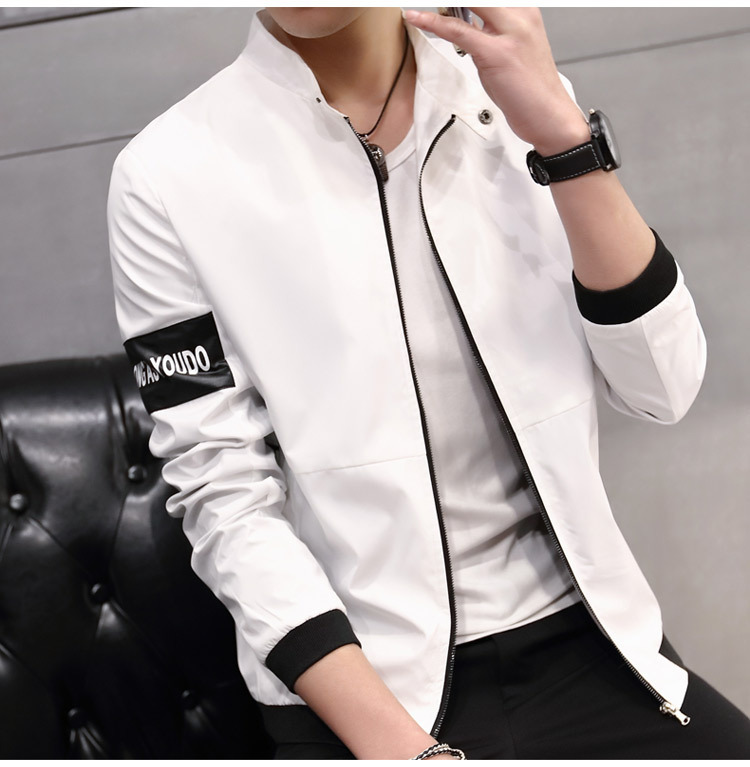 2018 new stock spring autumn men's thin coat wide men's casual zipper cotton jacket free shipping