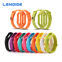 LEMDIOE Colorful Silicone Bracelet For Xiaomi Mi Band 2 Bracelet Strap Mi Band Bracelet Accessories Replaceable Smart Band Belt