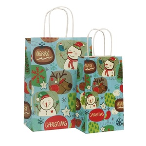 Image 4 - 40 Pcs/lot 21x13x8cm Christmas Paper Bag With Handles Decoration Paper Gift Bag For Christmas Event Party Lovely Cute Paper Bags
