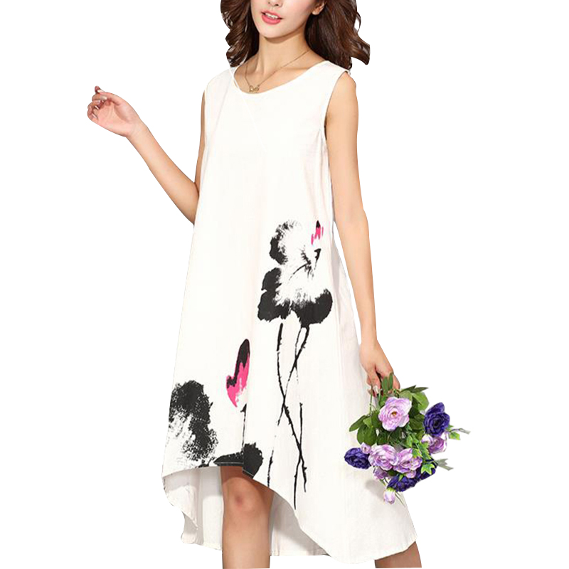 Summer dress 2017 vestidos vestidos casuales para mujeres vintage dress señoras