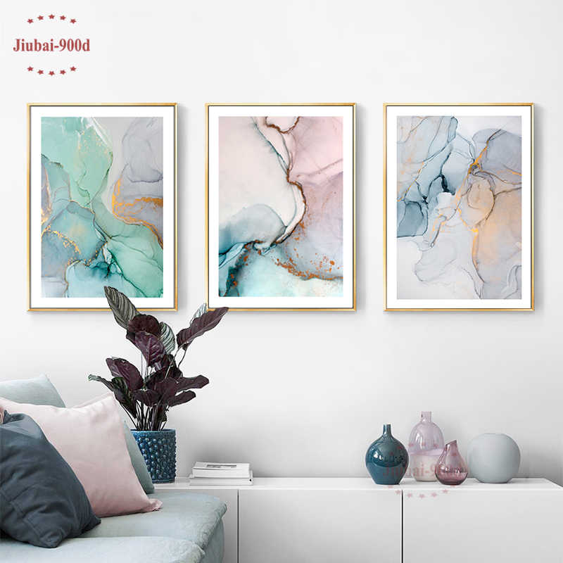 900D Nordic Poster Abstract Marble Decor Canvas Painting Wall Pictures For Living Room Modern Posters And Prints Wall Art SAN111