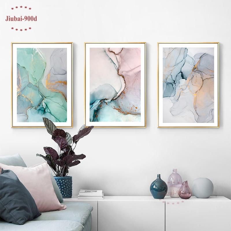900D Nórdico De Mármore Abstrato Cartaz Decoração Da Lona Pintura de Parede Pictures Para Sala de estar Moderna Cartazes E Impressões Da Parede Da Arte SAN111