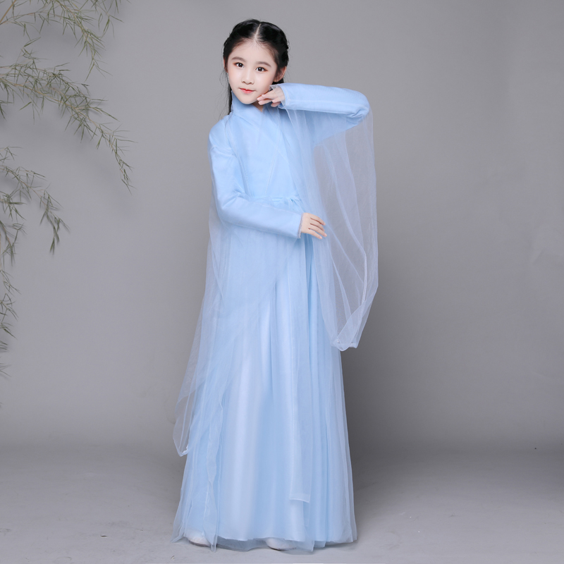 2018 spring ancient chinese costume chinese traditional hanfu teens han dynasty costume national chinese dance costumes children tv play the virtuous queen of han princess pingyang hanfu costume hair tiaras hair jewelry