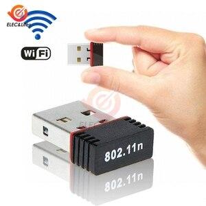 Мини USB 2,0 802.11n стандарт 150 Мбит/с Wifi сетевой адаптер Поддержка 64/128 бит WEP WPA шифрование для Windows Vista MAC Linux PC
