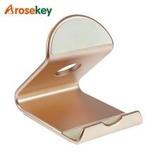 купить Arosekey Universal Metal Tablet Stand Holder For iPad mini 4 3 2 Mobile Phone Stand For iPhone For Samsung For Xiaomi huawei по цене 508.17 рублей
