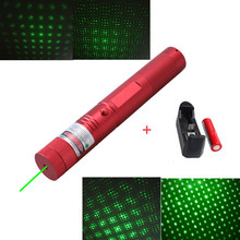 532 nm Green Laser Sight laser 303 pointer Powerful device Adjustable Focus Lazer with laser 303+charger+18650 Battery(China)