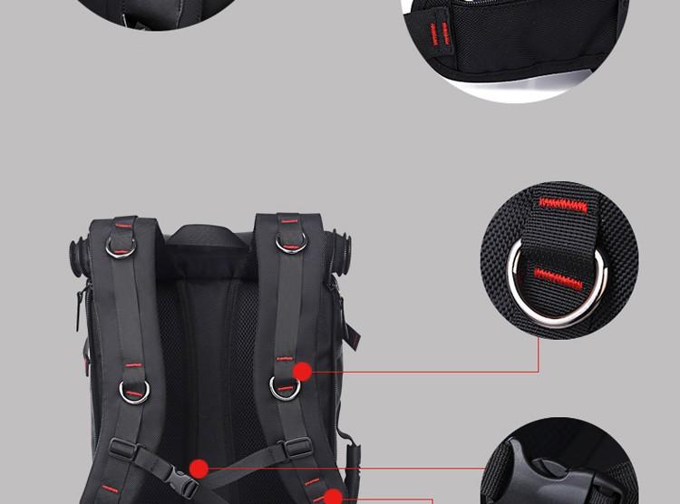 KAKA Men Backpack Travel Bag Large Capacity Versatile Utility Mountaineering Multifunctional Waterproof Backpack Luggage Bag 19